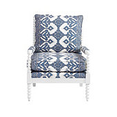 Shiloh Spool Chair in Mallory Blue with White Frame - Stocked