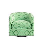 Skylar Swivel Glider in Cole Green - Stocked