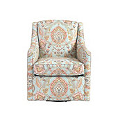 Carlyle Swivel Chair in Cari Sky - Stocked
