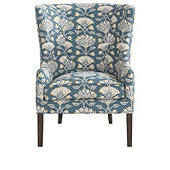 Welsley Chair in Cayman Teal and Cognac Finish - Stocked