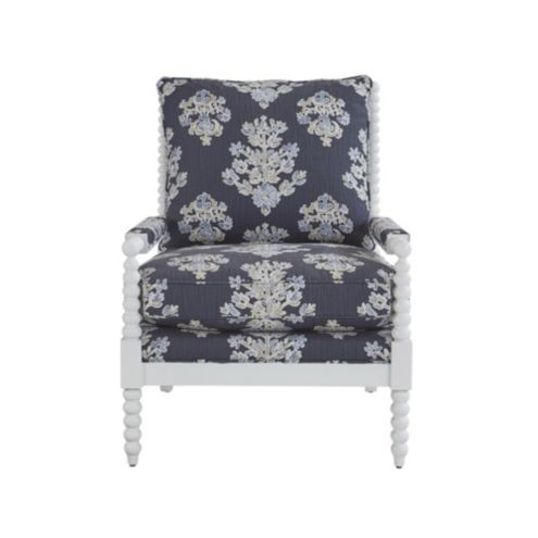 Shiloh Spool Chair in Eliza Navy with White