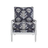 Shiloh Spool Chair in Eliza Navy with White Finish - Stocked