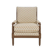 Shiloh Spool Chair In Pippa Golden with Dirftwood Finish - Stocked