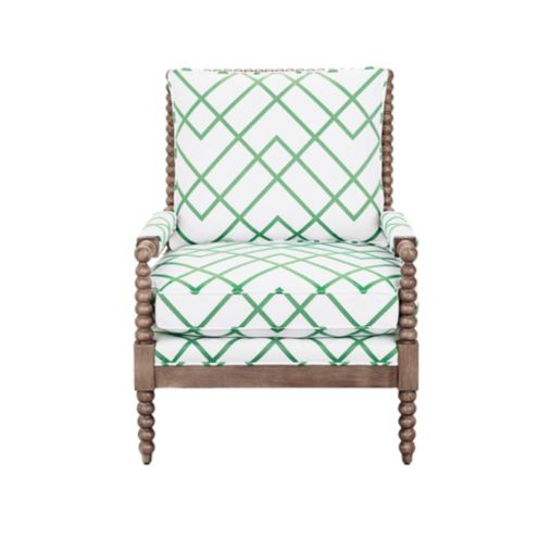 Shiloh Spool Chair in Imperial Trellis Green with