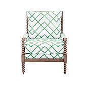 Shiloh Spool Chair in Imperial Trellis Green with Latte - Stocked