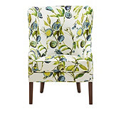 Welsley Chair in Alana Blue with Driftwood Finish - Stocked