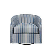 Skylar Swivel Glider Chair in Downey Blue - Stocked