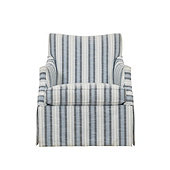 Larkin Swivel Glider in Pria Azure InsideOut® Performance Fabric - Stocked