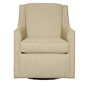 Carlyle Swivel Chair in Biff Mustard InsideOut® Performance