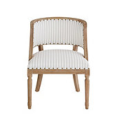 Limited Edition Haynes Chair in Parker Stripe Spa with Limed Oak Finish