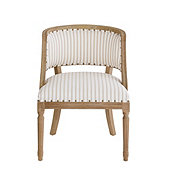 Limited Edition Haynes Chair in Parker Stripe Natural with Limed Oak Finish