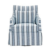 Larkin Swivel Glider In Pria Azure InsideOut® Performance - Stocked