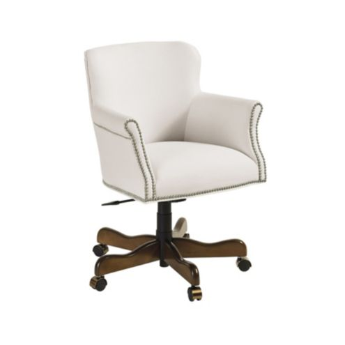 Pennington Desk Chair with Pewter Nailheads