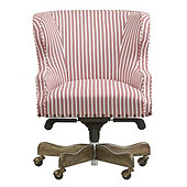 Suzanne Kasler Carson Desk Chair in Presidio Rose with Brass Nailheads and Weathered Finish - Stocked