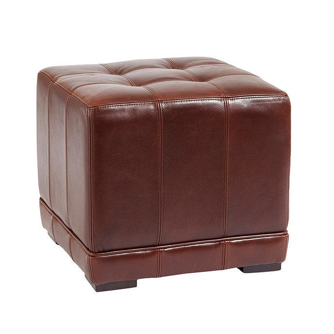 Groovy Leather Cube Ottoman Short Links Chair Design For Home Short Linksinfo