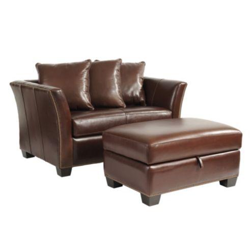 Tate Leather Twin Sleeper And Storage Ottoman Ballard