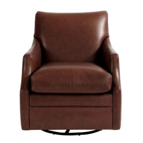 Larkin Leather Swivel Glider Ballard Designs