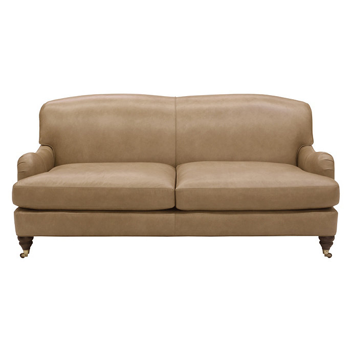 Spencer Leather Apartment Sofa | Ballard Designs | Ballard Designs