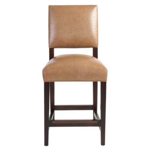 Hayward Leather Counter Stool Ballard Designs
