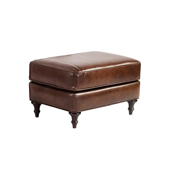 Groovy Wynne Leather Ottoman Short Links Chair Design For Home Short Linksinfo