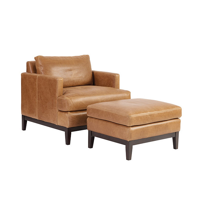 Awesome Hartwell Leather Chair Ottoman Short Links Chair Design For Home Short Linksinfo