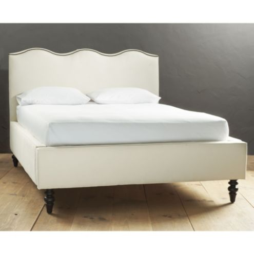Lehigh Upholstered Bed with Antique Brass Nailheads