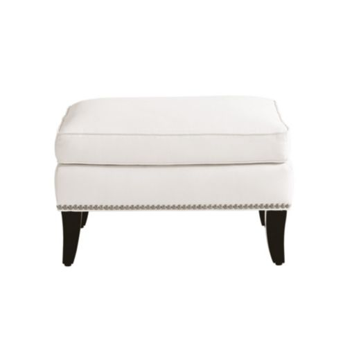 Carlton Ottoman with Pewter Nailheads