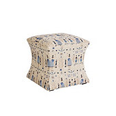 Courbe Ottoman in Freya Blue - Stocked