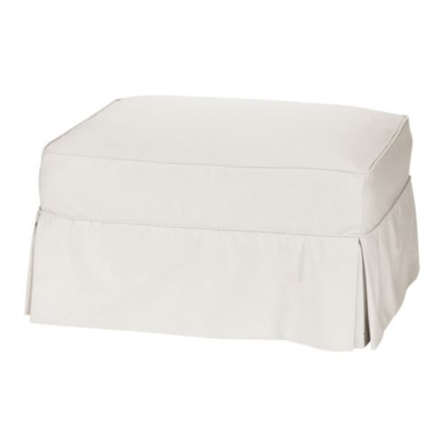 Baldwin/Vintage Vogue Club Ottoman Slipcover - Essentials