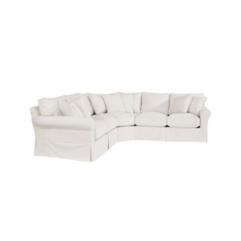 Baldwin 3-Piece Loveseat Wedge Sectional Slipcover - Special
