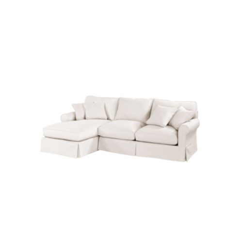 Baldwin 2-Piece Sectional with Left Arm Chaise Slipcover