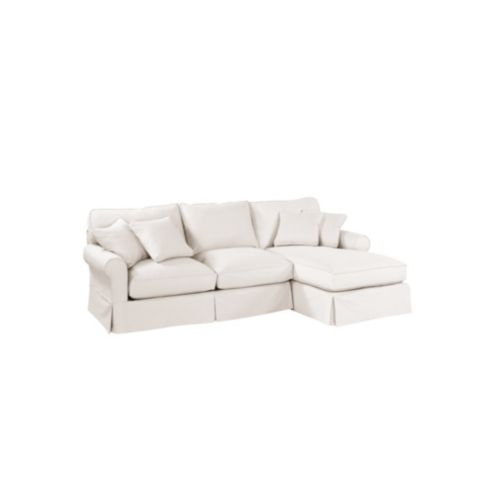 Baldwin 2-Piece Sectional with Right Arm Chaise Slipcover