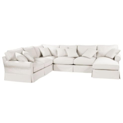 Baldwin 4-Piece Sectional with Right Arm Chaise Slipcover