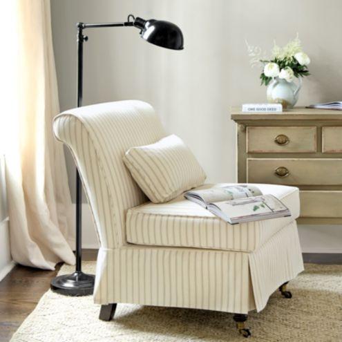 Leyland Armless Chair Slipcover Ballard Designs