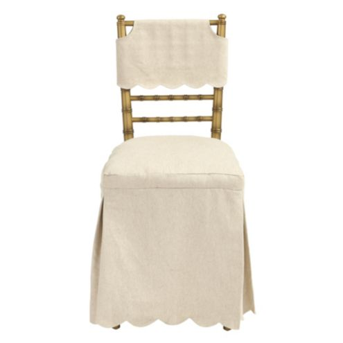 Bunny Williams Ballroom Folding Chair Long Slipcover Light