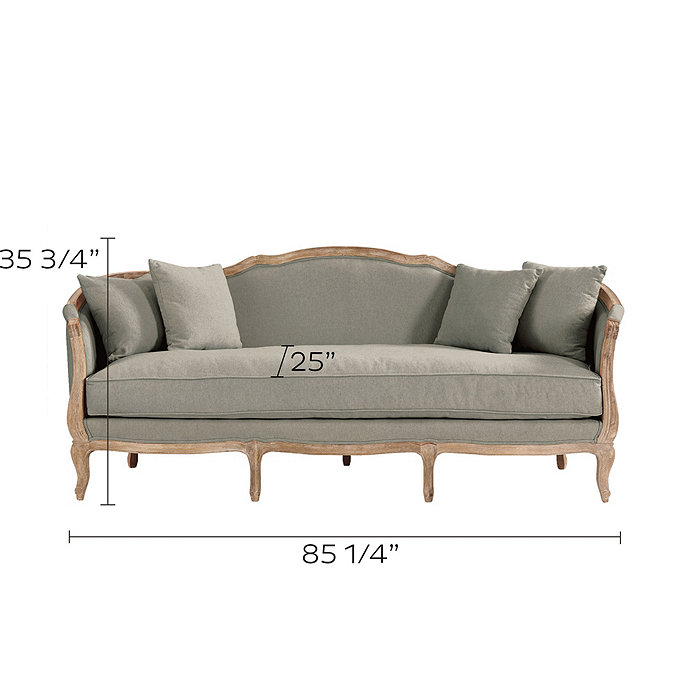 Sofia Upholstered Sofa Stocked Ballard Designs Ballard Designs