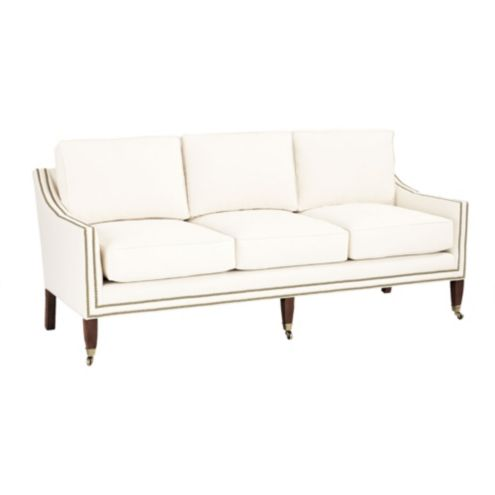 Griffin Sofa with Aged Brass Nailheads