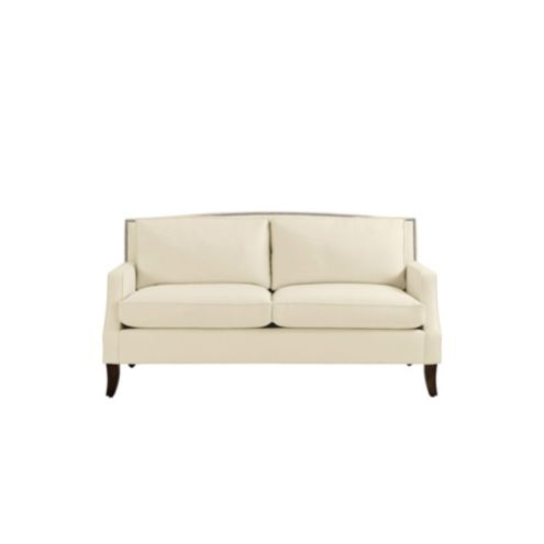 Carlton Upholstered Apartment Sofa with Pewter Nailheads