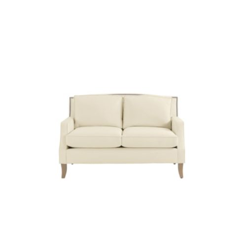 Carlton Upholstered Loveseat with Pewter Nailheads