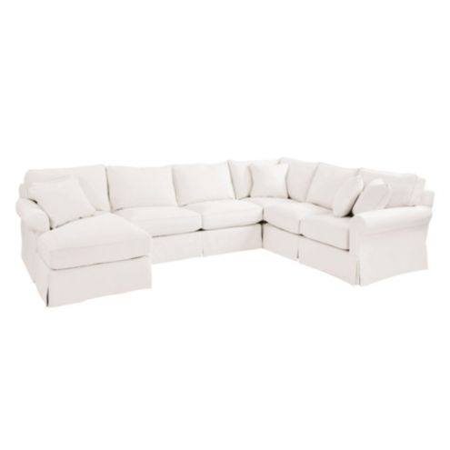 Baldwin Upholstered 4pc Sectional - Left Arm Chaise,
