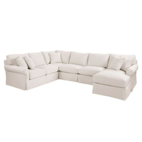 Baldwin Upholstered 4pc Sectional - Right Arm Chaise,