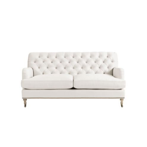 Maggie Small Tufted Sofa With Nailhead Trim