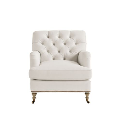 Maggie Custom Tufted Chair With Nailhead Trim