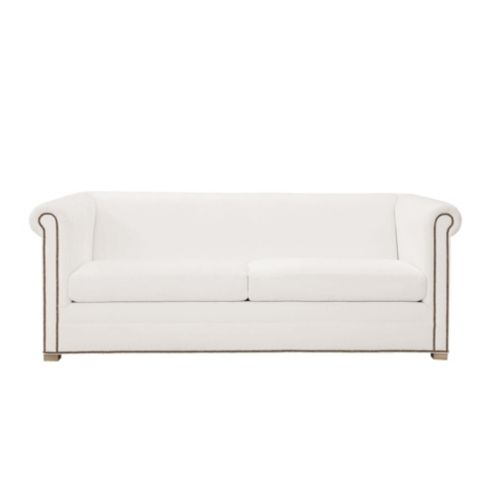 Bunny Williams Sharon Custom Upholstered Sofa with Brass