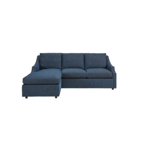 Nora Sleeper Sectional Sofa In Boost Indigo Sunbrella