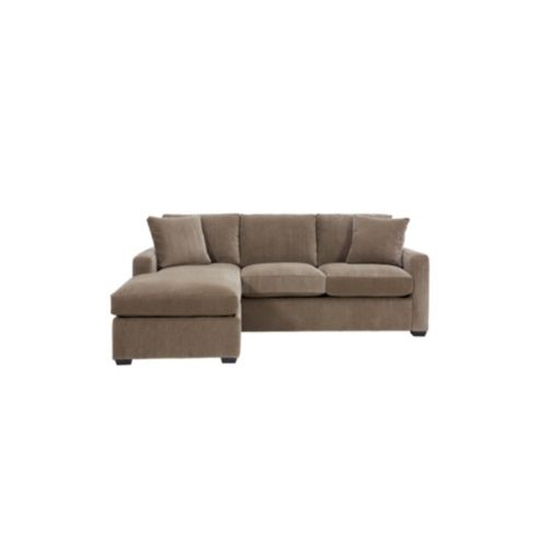 Orson Sleeper Sectional Sofa In Decor Mink Sunbrella