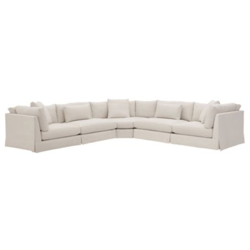 Roswell 3 piece Curved Corner Sectional Left Arm