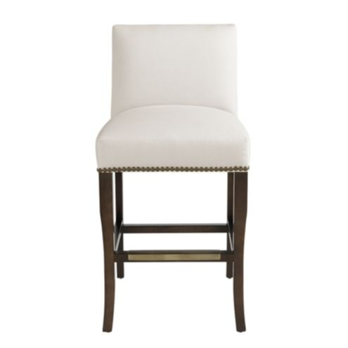 Harris Counter Stool with Brass Nailheads