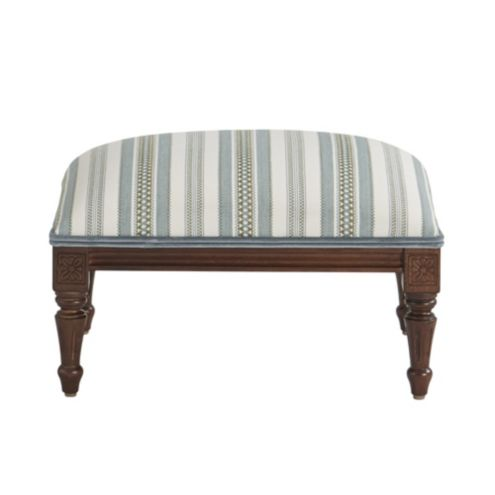 Louis XVI Footstool Windsor Blue with Signature Velvet