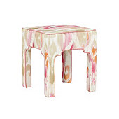 Nala Stool in Millie Pink with Suzanne Kasler Signature 13oz Linen Peony Welt - Stocked